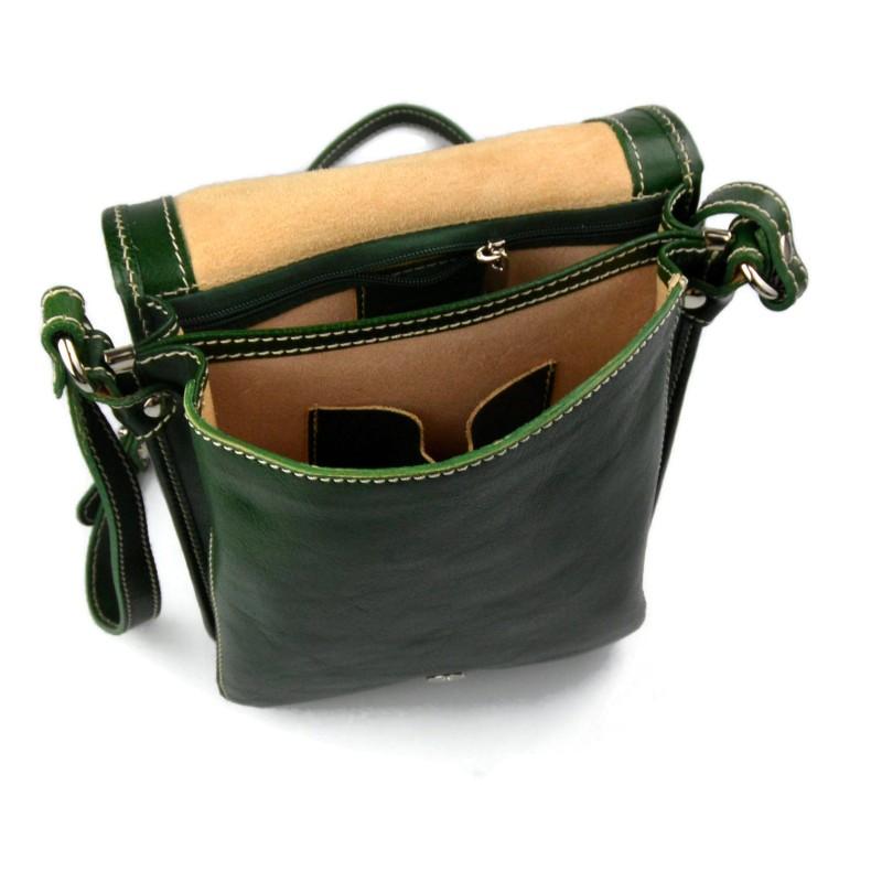 fc620a5c46 ... Cartella pelle messenger a tracolla postino borsa vera pelle uomo donna  made in Italy marrone ...
