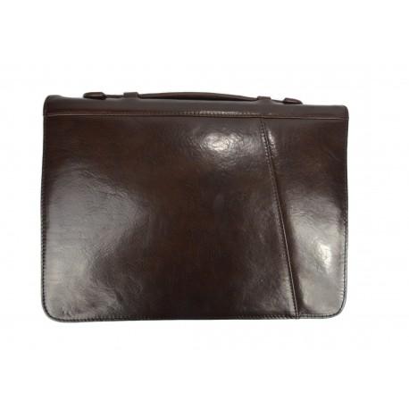 Cartella pelle uomo donna valigetta 24 ore borsa pelle nero for Borsa ufficio uomo