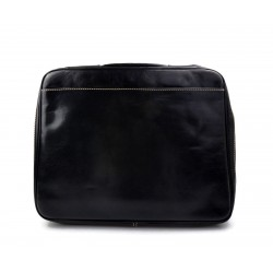 Maletin en piel cartera de cuero A4 bolso de cuero de hombre bolso de cuero de mujer negro