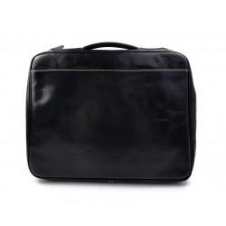 Cartella pelle uomo donna valigetta 24 ore borsa pelle a mano e tracolla borsa ufficio marrone