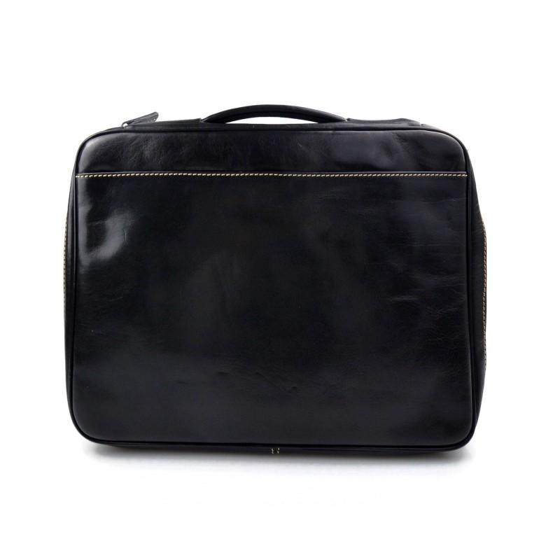 Cartella pelle uomo donna valigetta 24 ore borsa pelle marrone for Borsa ufficio uomo