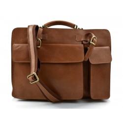 Leather shoulder bag briefcase carry on messenger bag leather ladies handbag mens office bag matt brown