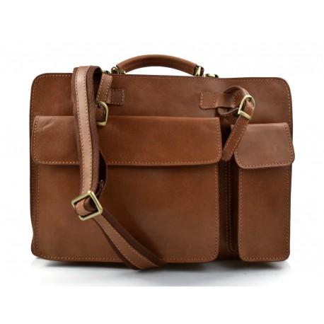 50a266b646 Nuovo Cartella pelle uomo donna valigetta 24 ore borsa pelle borsa ufficio  marrone opaco