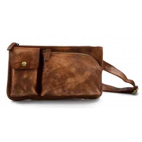 prezzo più basso scarpe esclusive le migliori marche Marsupio pelle vintage uomo donna borsa borsellino marrone borsello
