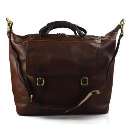060e00a79a2c Leather duffle bag brown genuine leather shoulder bag weekender men women  travel bag gym bag luggage sport bag duffel bag
