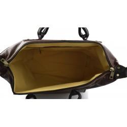 Mens waist leather womesn shoulder bag ladies hobo bag brown