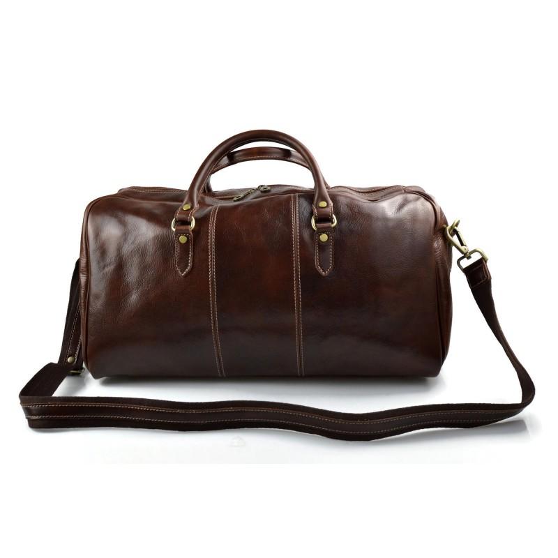 schultertasche braun reisetasche sporttasche Leder damen