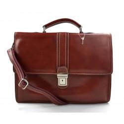 Leather briefcase mens ladies office handbag shoulderbag messenger business bag satchel red leather executive bag