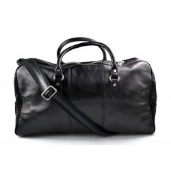 Leder reisetasche sporttasche schwarz damen herren schultertasche ledertasche