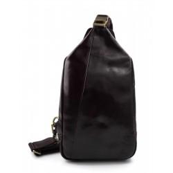 Men backpack leather women shoulder bag women dark brown backpack