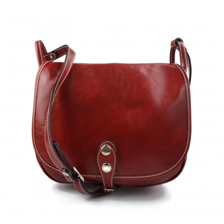 Ladies handbag leather bag clutch hobo bag shoulder bag red crossbody bag made in Italy genuine leather satchel
