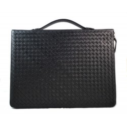 Maletin en piel genuina italiana cartera bolso cartera de cuero bolso de cuero negro