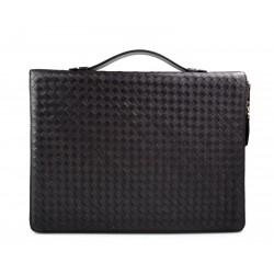 Maletin en piel genuina italiana cartera bolso cartera de cuero bolso de cuero marron oscuro