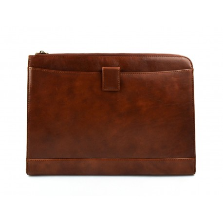35caa5fa354c Leather folder A4 portofolio document file folder A4 leather zipped  document leather bag office folder document organiser brown