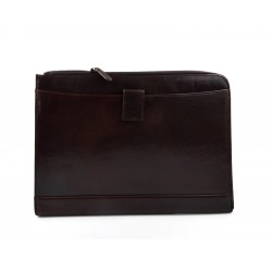 Organisateur en cuir A4 sac document porte-documents marron fonce sac dossier organisateur cuir homme cuir femme sac cartable