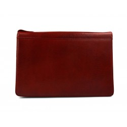 Leather folder A4 document file folder A4 red leather zipped document folder bag office folder document organiser