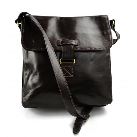 Leather shoulder bag hobo bag leather satchel leather bag crossbody dark brown