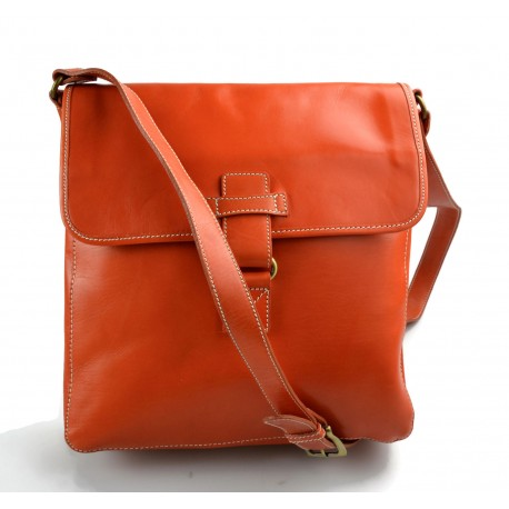 Leather shoulder bag hobo bag leather satchel leather bag crossbody orange
