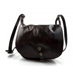 Ladies handbag hobo bag shoulder bag  crossbody bag made in Italy genuine leather satchel leather bag dark brown