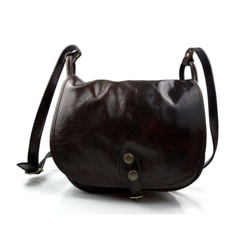 e2528c5c38c7 Ladies handbag leather bag clutch shoulder bag dark brown crossbody