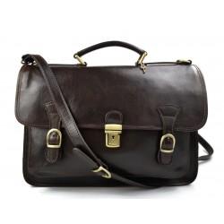 Sac à main cuir bandoulière sac en cuir sac homme sac à bandoulière homme messenger marron foncè