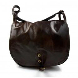 Genuine italian leather XXL shoulder messenger bag ipad laptop ladies men