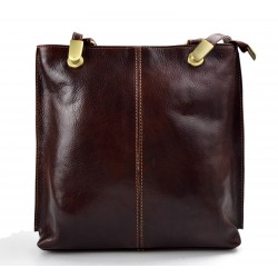 Ladies handbag brown leather bag clutch backpack crossbody women