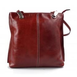 Bolso mujer piel rojo bolso de mano bandolera en piel