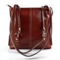 Mens leather duffle bag blue brown shoulder bag travel bag luggage weekender carryon cabin bag