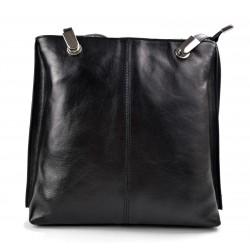 Ladies handbag black leather bag clutch backpack crossbody women
