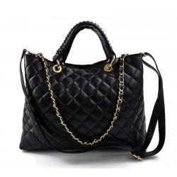 Leather women purse black handbag leather shoulder bag leather shopper