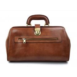 Leather doctor bag medical bag handbag ladies men leather bag vintage medical bag retro doctor bag brown