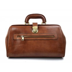 Leather doctor bag medical bag handbag ladies men leather bag vintage medical bag retro doctor bag brown