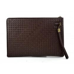 Maletin marron en piel genuina italiana cartera bolso cartera de cuero bolso de cuero