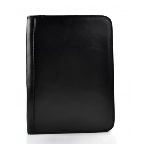 Cartella portadocumenti in pelle A4 nero portadocumenti pelle zip