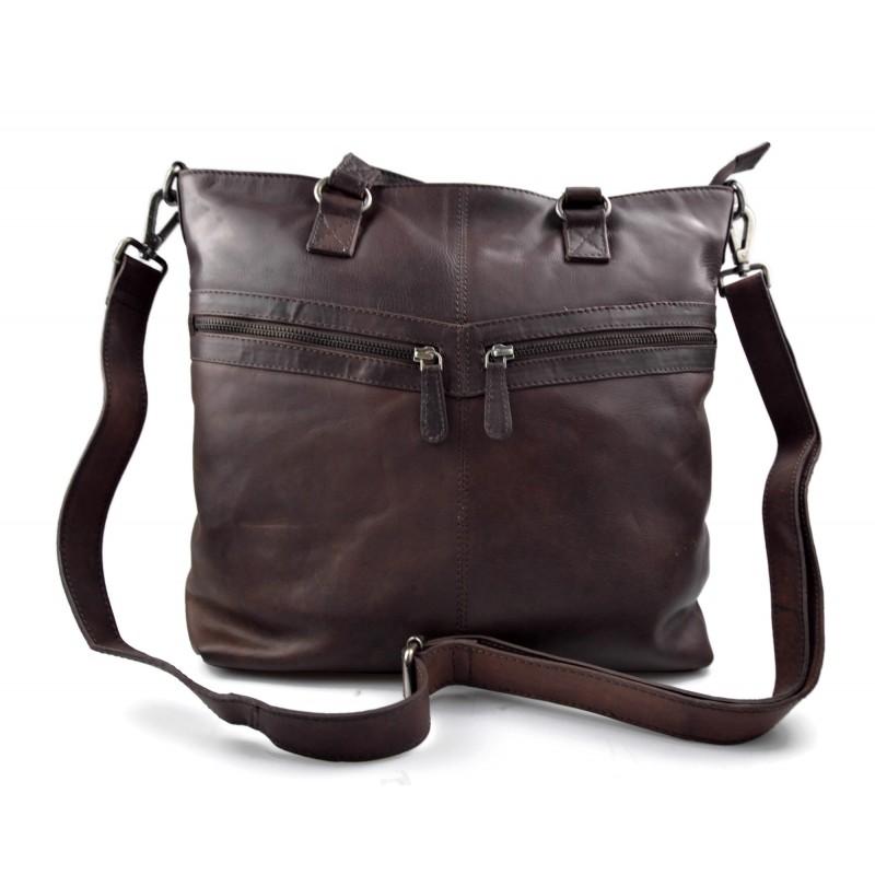 Sac cuir femme sac en cuir d'èpaule bandoulierè cuir marron fonce