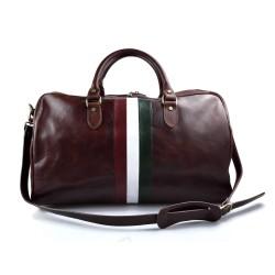 Trolley rigido pelle borsa pelle borsa viaggio borsa valigia testa moro