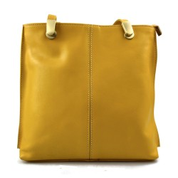 Ladies handbag yellow leather bag clutch backpack crossbody women