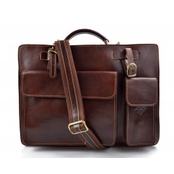 Leather shoulder bag briefcase carry on messenger bag leather ladies handbag men brown