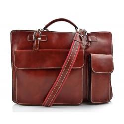 Sac à main cuir bandoulière sac homme femme rouge messenger cuir sac d'épaule