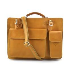 Sac à main cuir bandoulière sac homme femme miel messenger cuir sac d'épaule