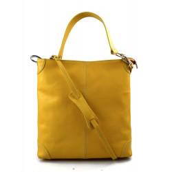 Bolso de de cuero bolso de piel de mujer amarillo