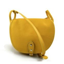Bolso de mujer de piel bandolera de cuero amarillo bolso espalda