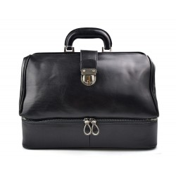 Doctor bag black leather retro bag doctor bag for men women medical bag retro bag