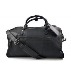 Bolsa de viaje de cuero maleta de cuero negro equipaje de mano bolsa de viaje grande de cuero XXL bolsa de viaje de mano