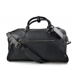 Travel bag leather travel duffle bag XXL big leather black carry on hand held travel shoulder bag leather gym bag duffel
