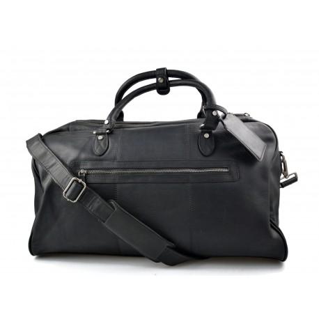 Travel bag leather travel duffle bag XXL big leather black carry on hand held travel shoulder bag leather gym bag duffel