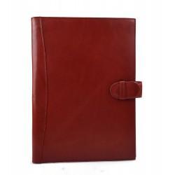 Maletin piel cartera bolso cartera cuero organizador archivos rojo