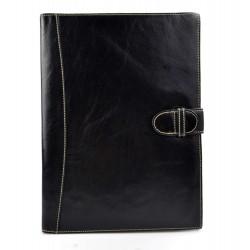 Organisateur en cuir A4 sac document sac dossier organisateur noir