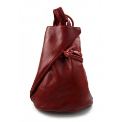 Bolso de viaje bolso de cuero mochila de cuero de hombre mochila rojo